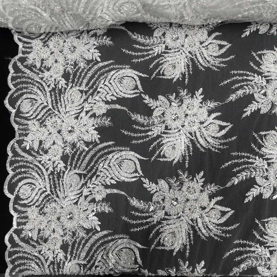 Celosia Bridal Lace Beaded Fabric Fabric