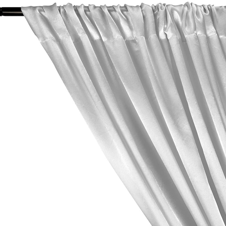 Charmeuse Satin Rod Pocket Curtains ( All Colors Available) - White