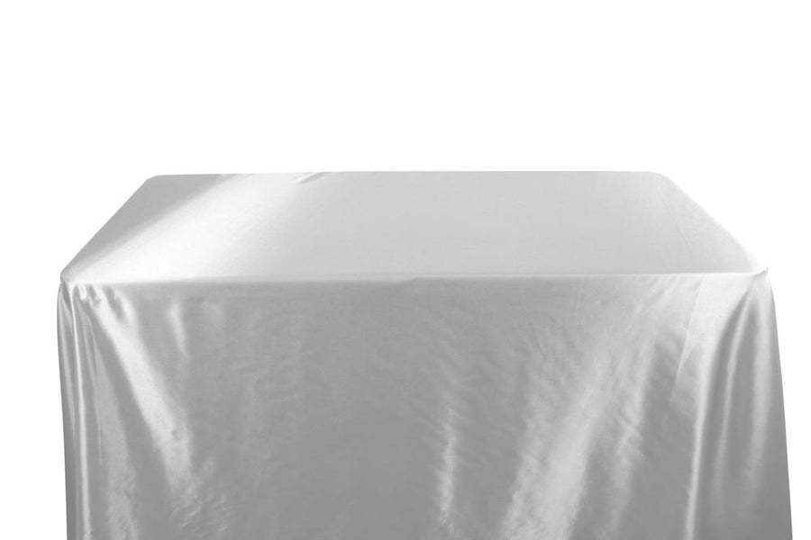 Charmeuse Satin Banquet Rectangular Table Covers - 6 Feet