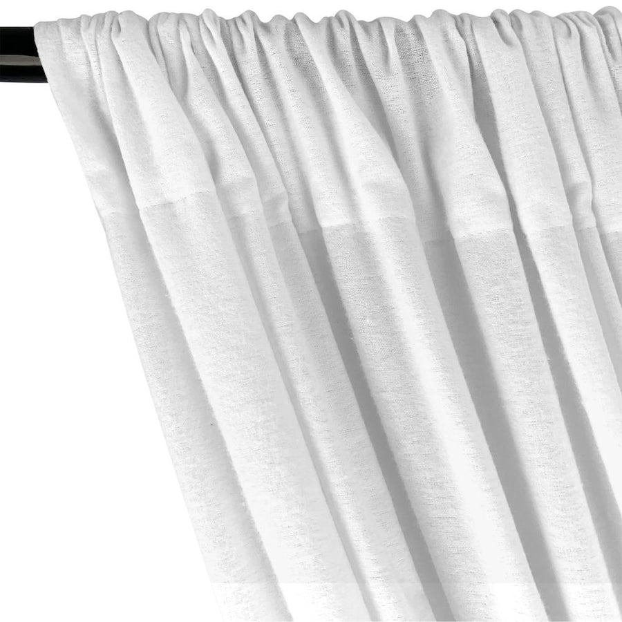 Cotton Flannel Rod Pocket Curtains (All Colors Available) - White