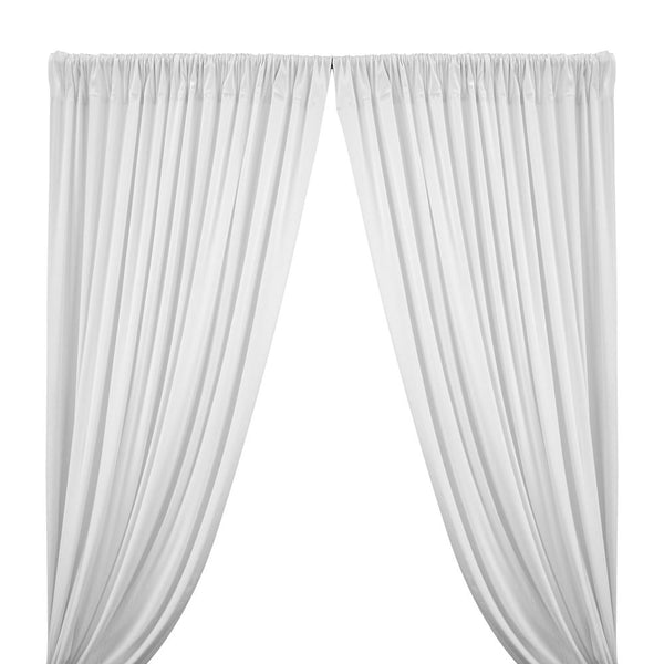 Cotton Jersey Rod Pocket Curtains (All Colors Available) - White