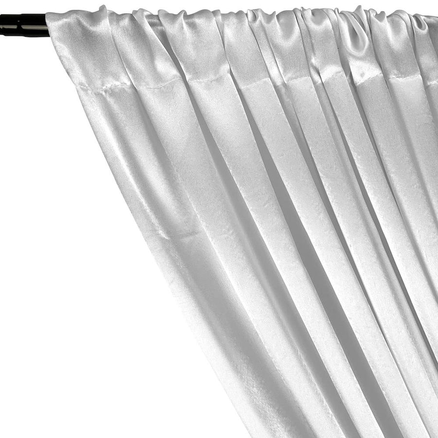 Crepe Back Satin Rod Pocket Curtains (All Colors Available) - White