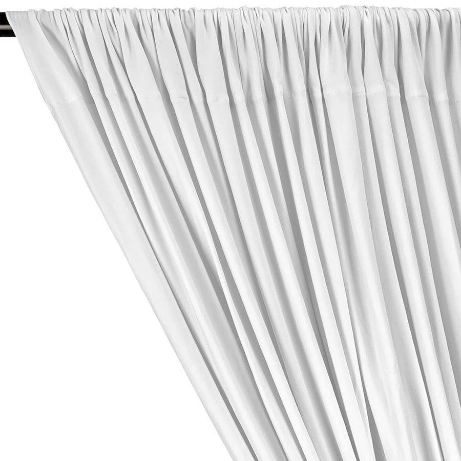 DTY Double-Sided Brushed Rod Pocket Curtains (All Colors Available) - White