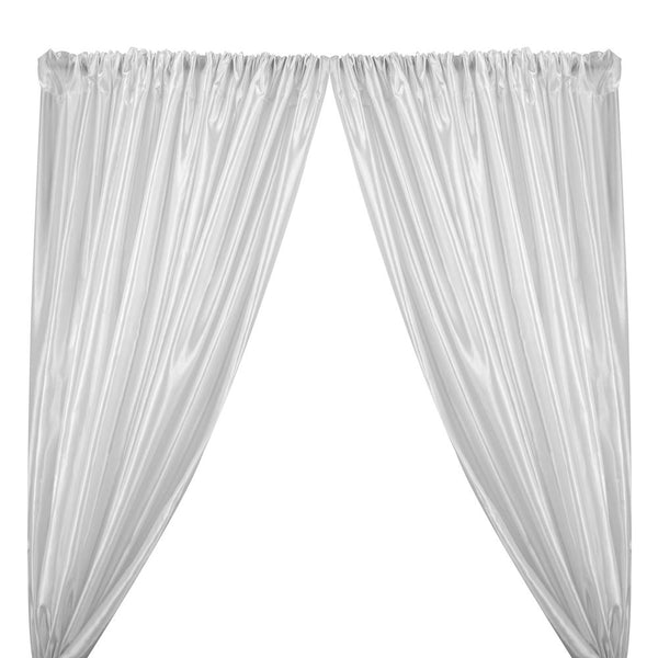 Extra Wide Nylon Taffeta Rod Pocket Curtains (All Colors Available) - White