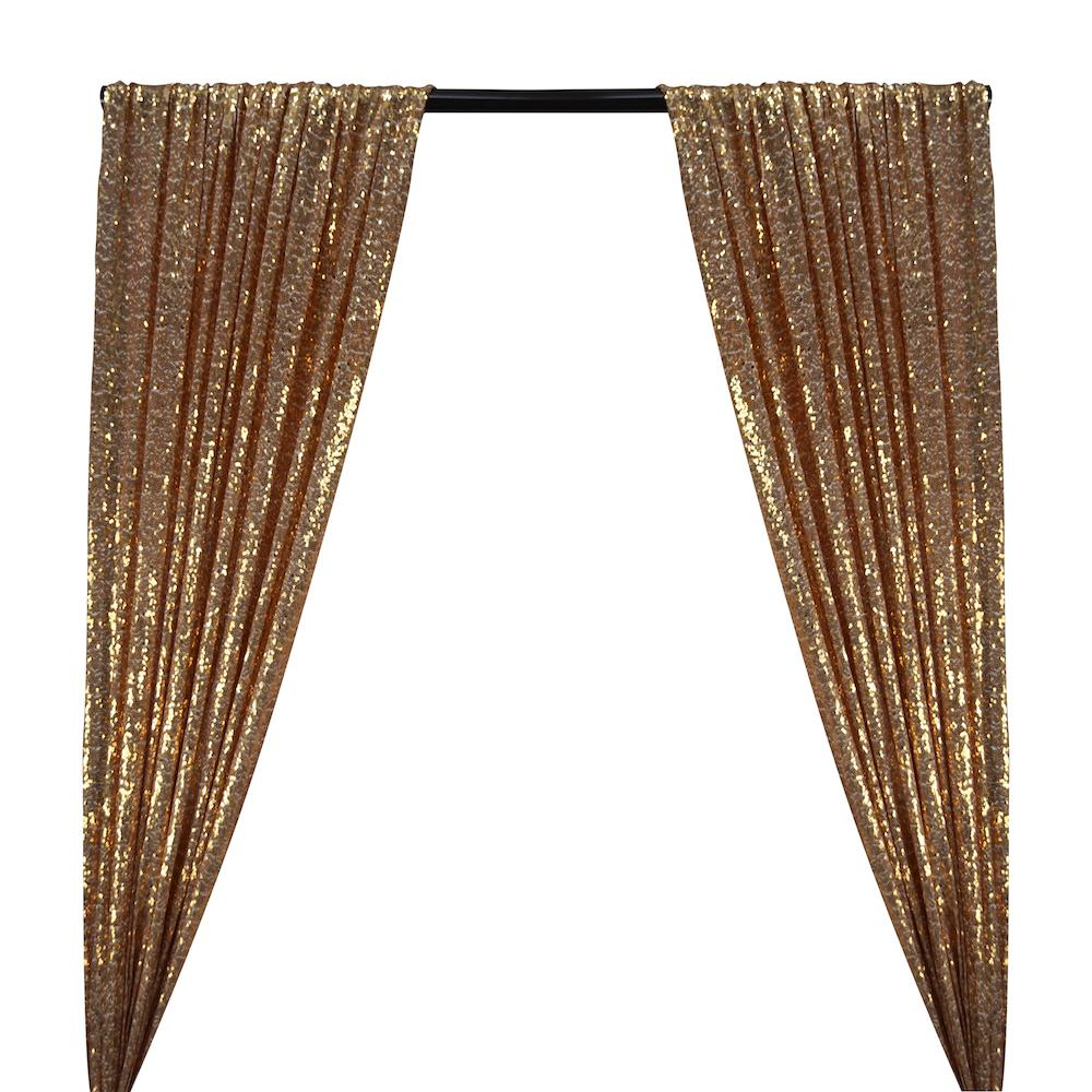 Zigzag Micro Sequins Starlight Rod Pocket Curtains - White Gold