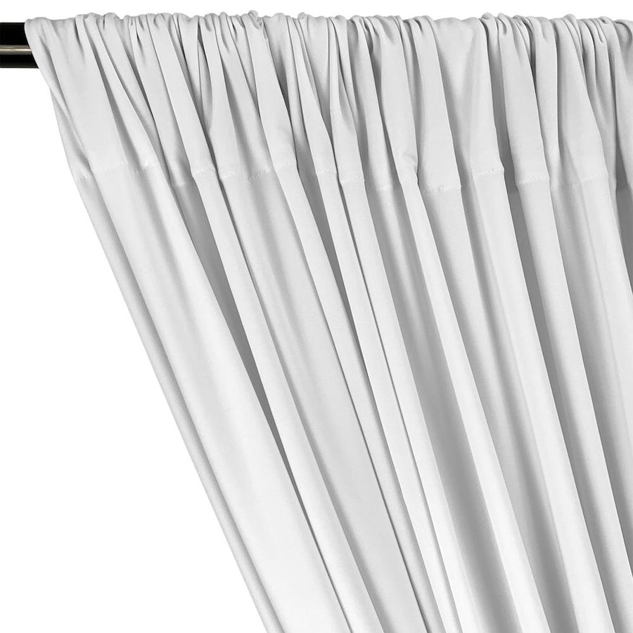 ITY Knit Stretch Jersey Rod Pocket Curtains (All Colors Available) - White