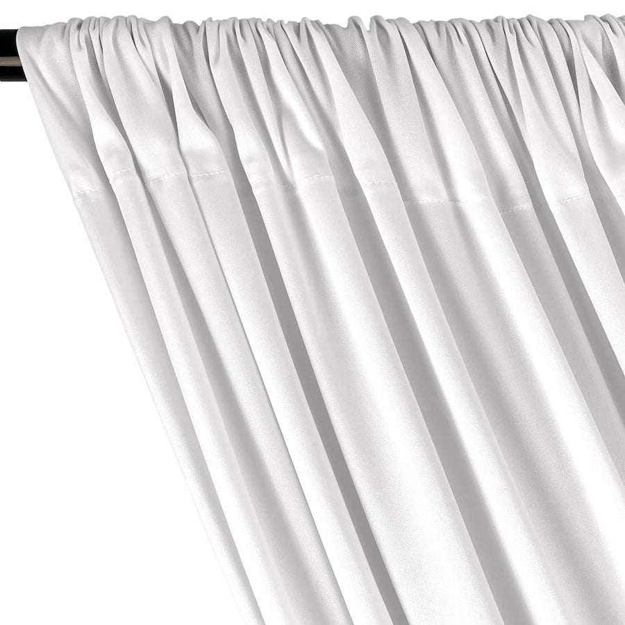 Interlock Knit Rod Pocket Curtains (All Colors Available) - White