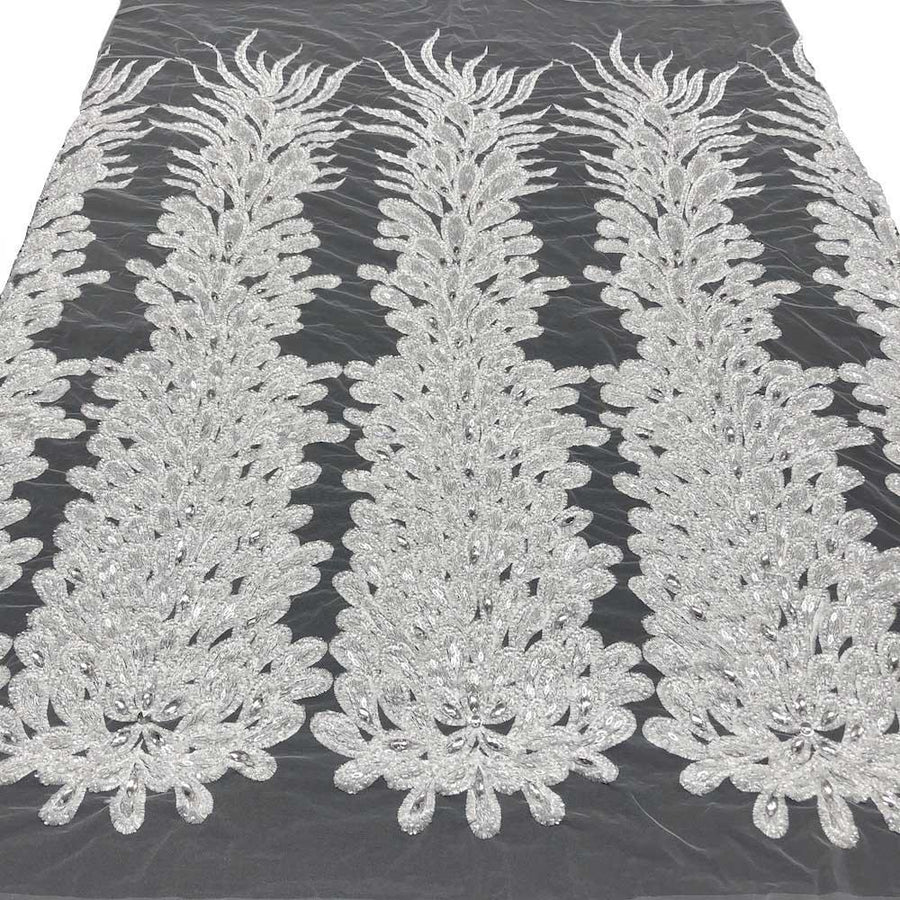 Liatris Bridal Lace Beaded Fabric Fabric