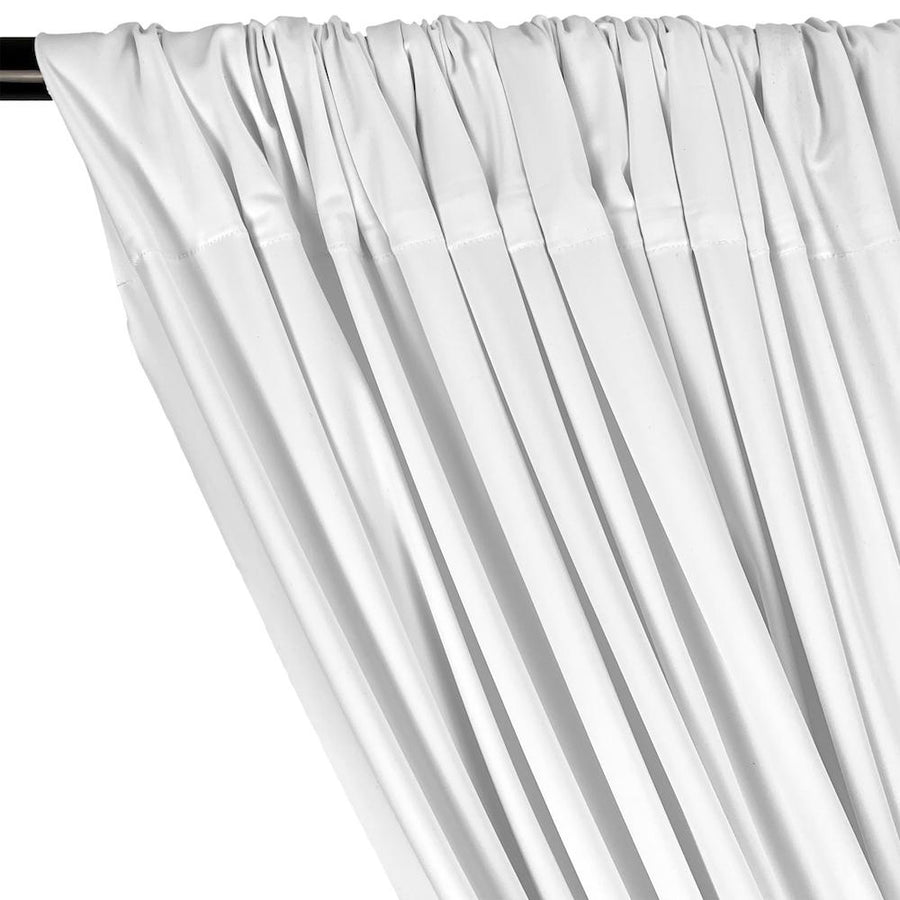 Matte Milliskin Rod Pocket Curtains (All Colors Available) - White