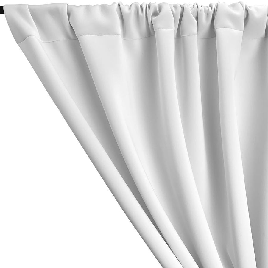 Neoprene Scuba Rod Pocket Curtains (All Colors Available) - White