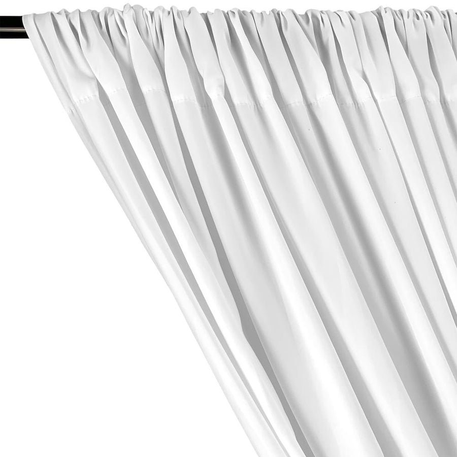Peachskin Rod Pocket Curtains (All Colors Available) - White