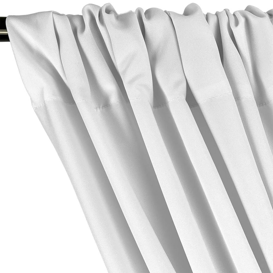 "Poplin (110"") Rod Pocket Curtains (All Colors Available) - White"