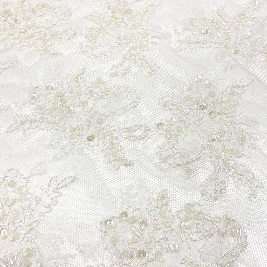 White Queen Beaded Lace