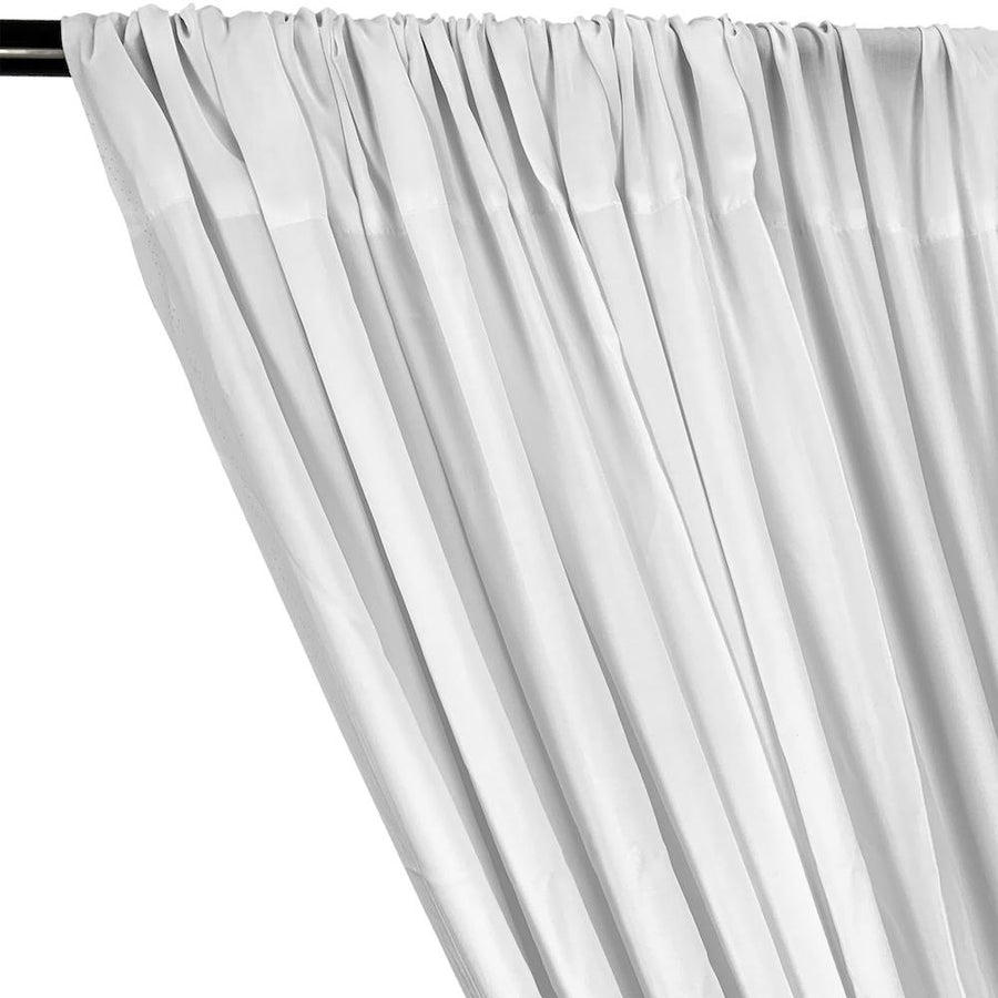 Rayon Challis Rod Pocket Curtains (All Colors Available) - White