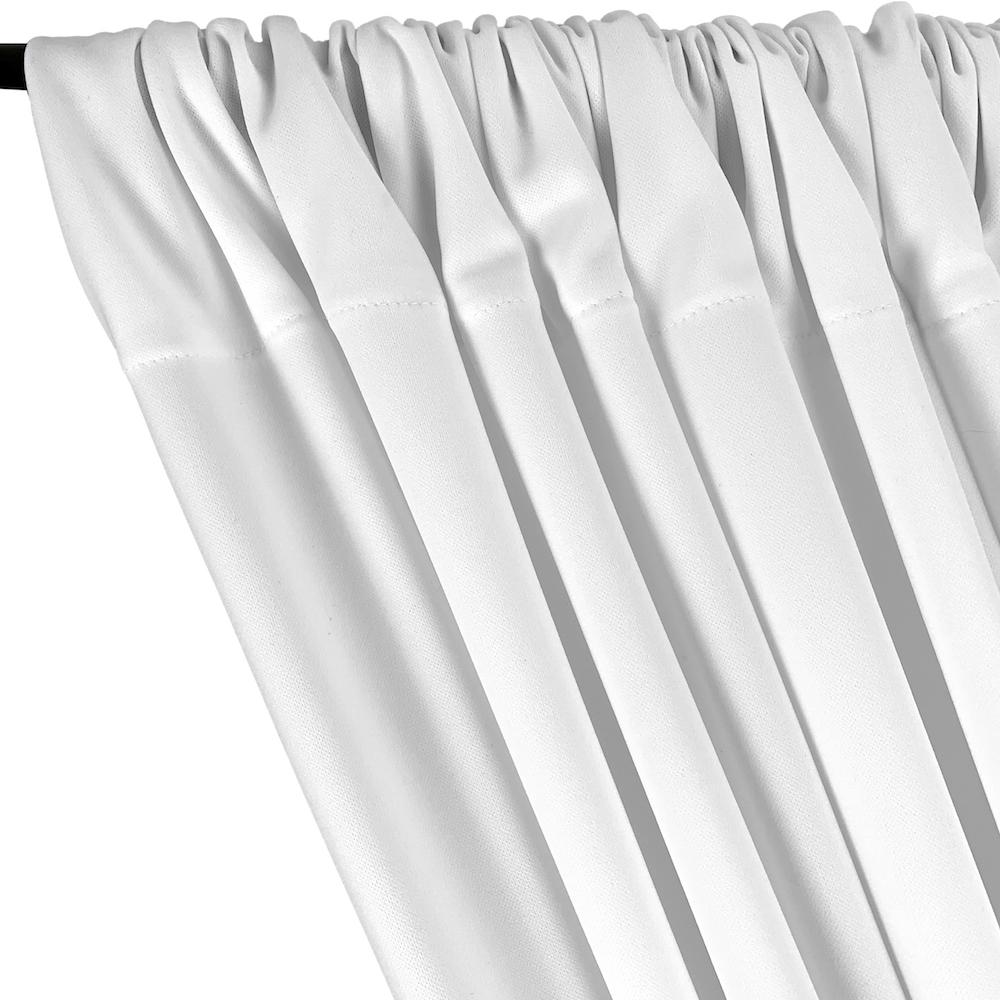 Scuba Double Knit Rod Pocket Curtains (All Colors Available) - White