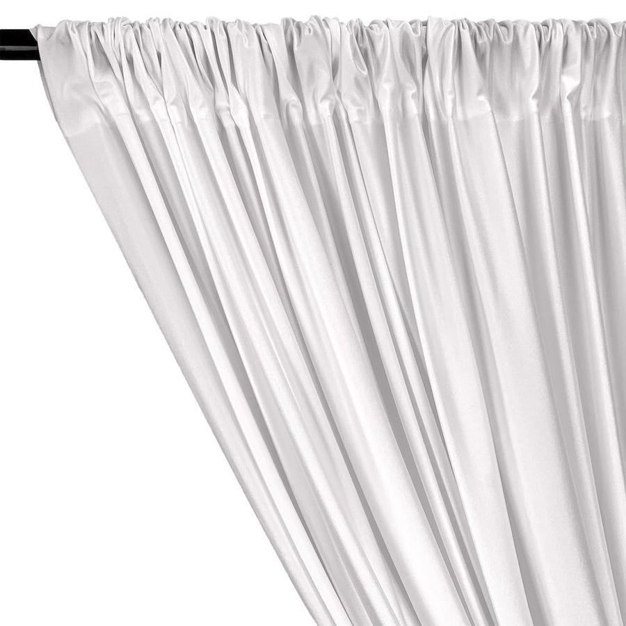 Shiny Milliskin Rod Pocket Curtains (All Colors Available) - White