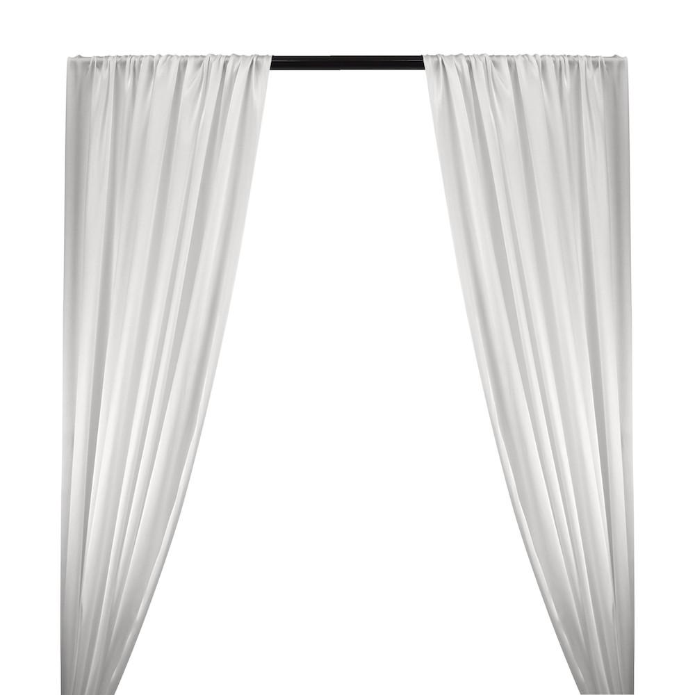 Silk Charmeuse Rod Pocket Curtains (All Colors Available) - White