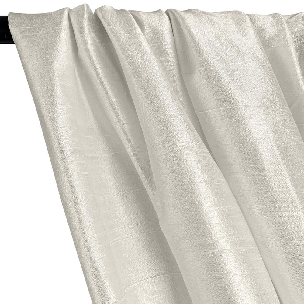"Silk Dupioni (54"") Rod Pocket Curtains (All Colors Available) - White"