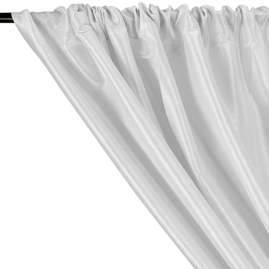 Stretch Taffeta Rod Pocket Curtains (All Colors Available) - White
