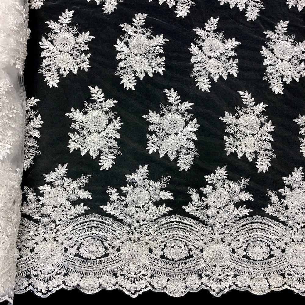 Viburnum Bridal Lace Beaded Fabric