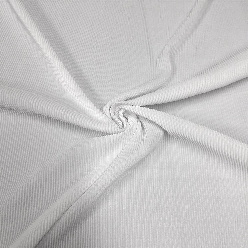 Pleated Polyester Knit Fabric