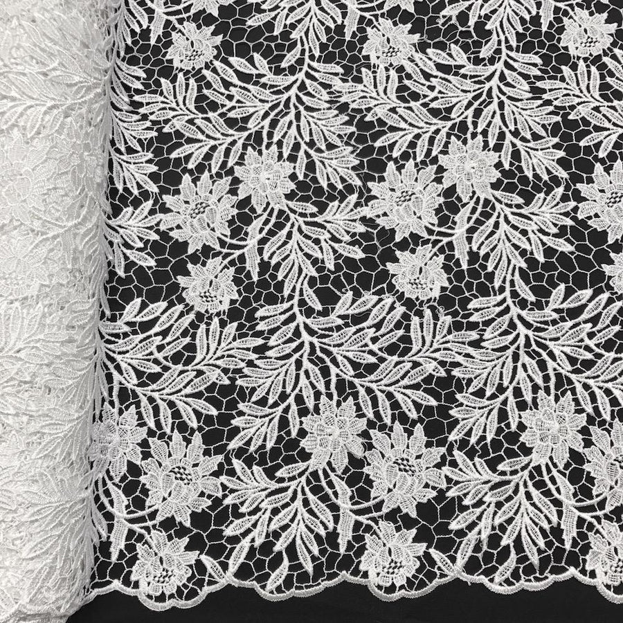 Camellia Guipure French Venice Lace Fabric