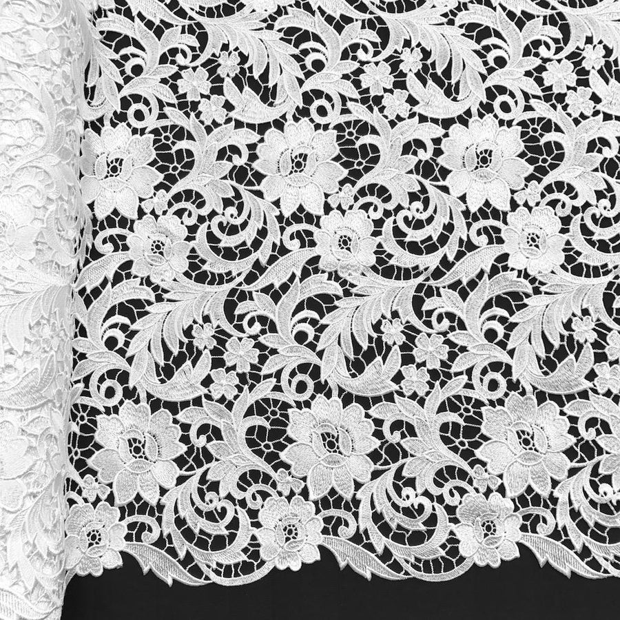 Lotus Guipure French Venice Lace Fabric