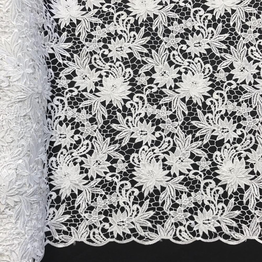 Magnolia Guipure French Venice Lace Fabric