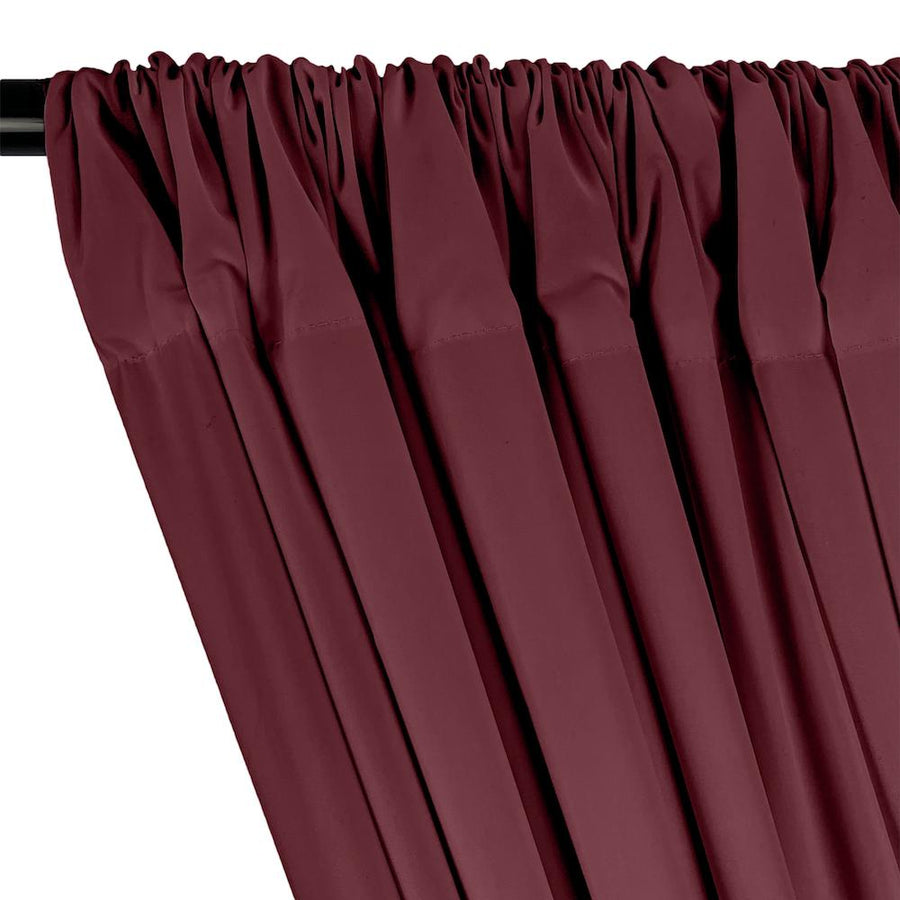 100% Cotton Broadcloth Rod Pocket Curtains - Wine