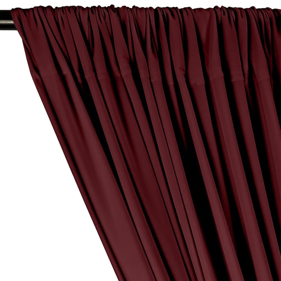 ITY Knit Stretch Jersey Rod Pocket Curtains - Wine