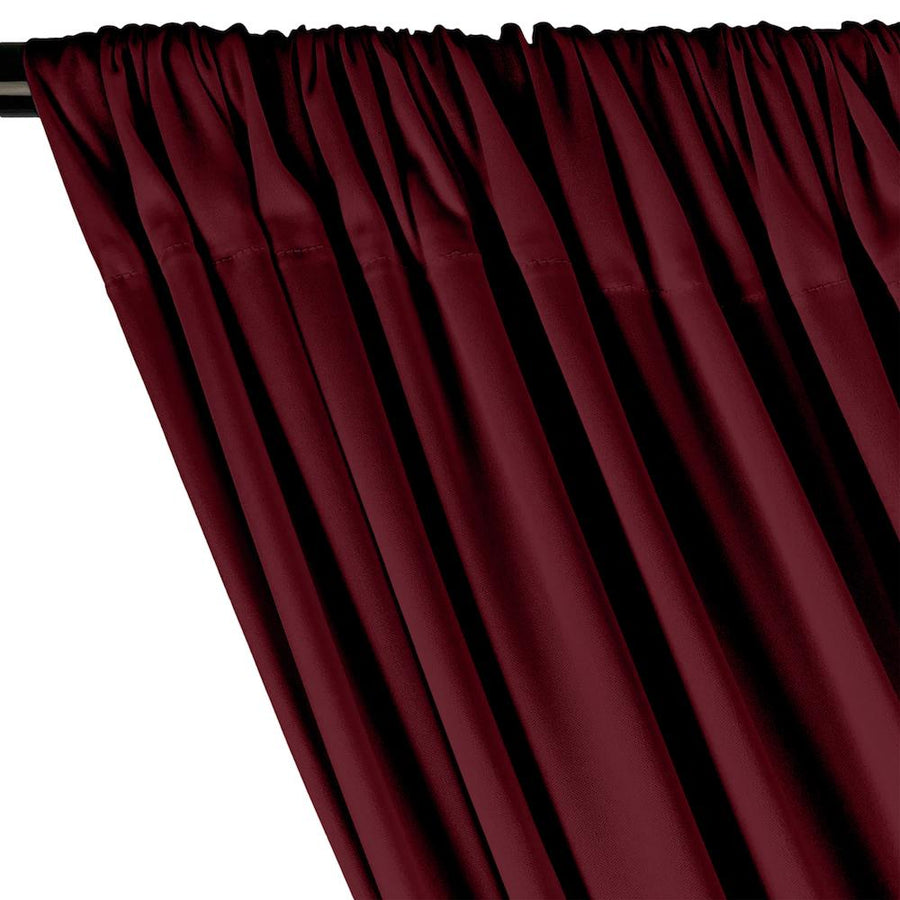 Interlock Knit Rod Pocket Curtains - Wine