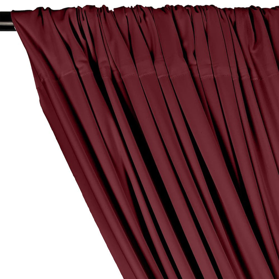 Matte Milliskin Rod Pocket Curtains - Wine