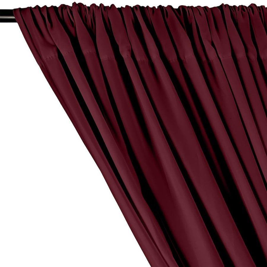 Peachskin Rod Pocket Curtains - Wine