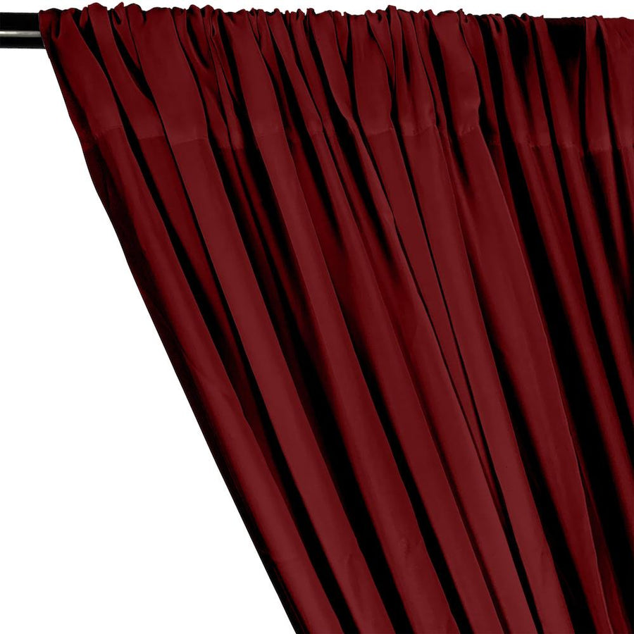Rayon Challis Rod Pocket Curtains - Wine