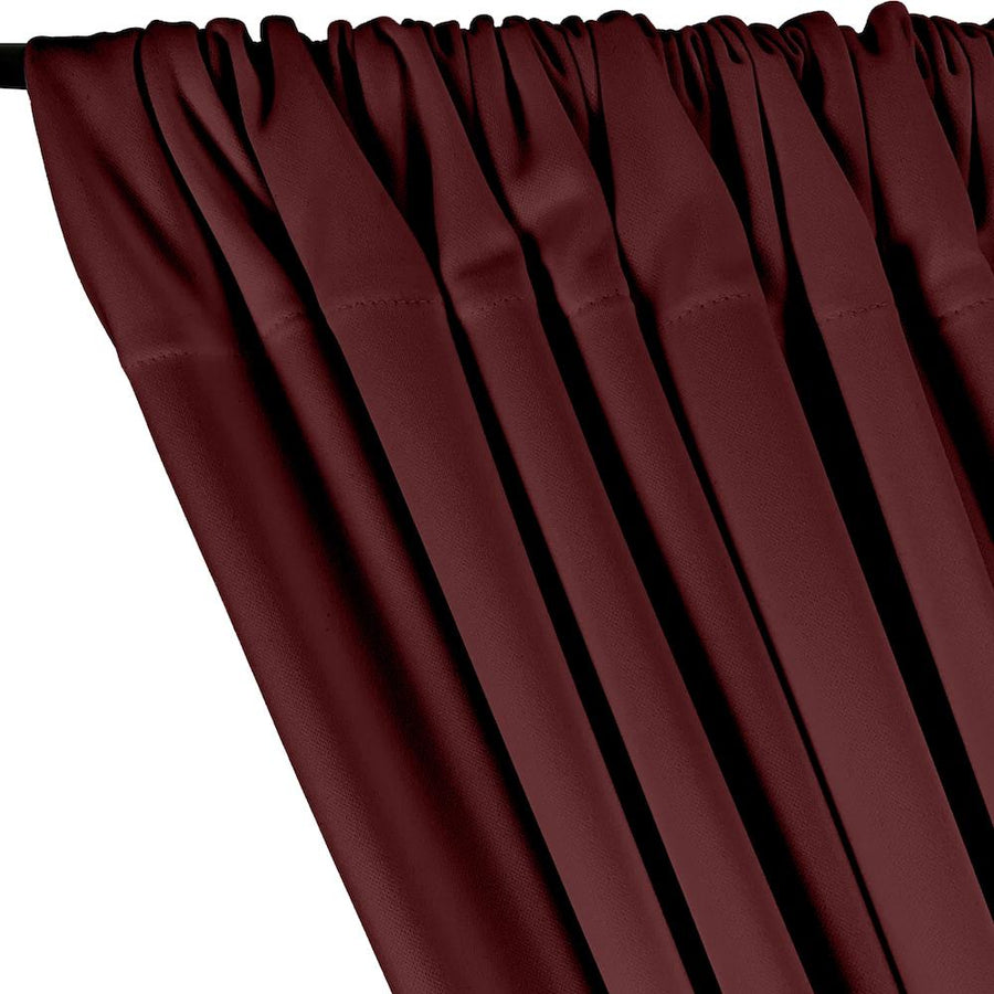 Scuba Double Knit Rod Pocket Curtains - Wine