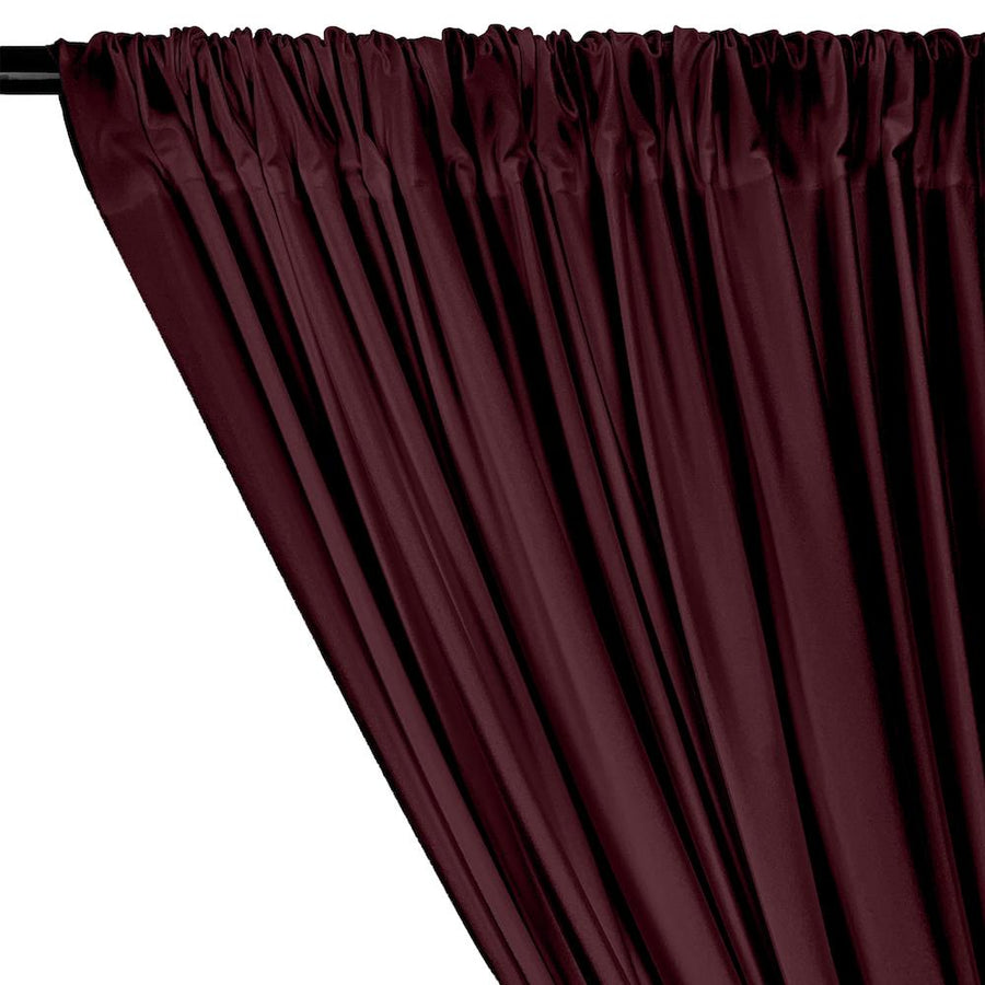 Shiny Milliskin Rod Pocket Curtains - Wine