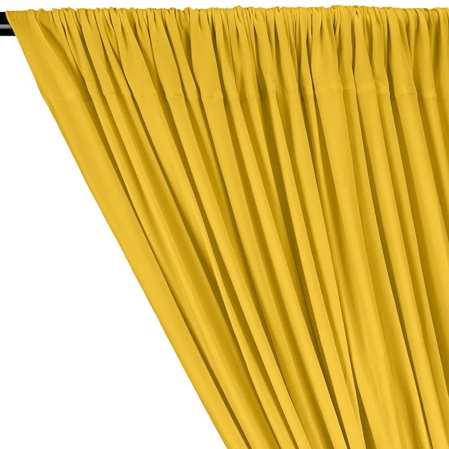 DTY Double-Sided Brushed Rod Pocket Curtains - Yellow