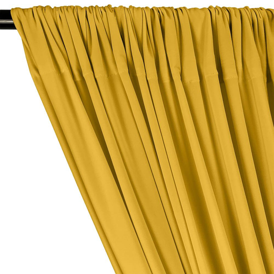 ITY Knit Stretch Jersey Rod Pocket Curtains - Yellow