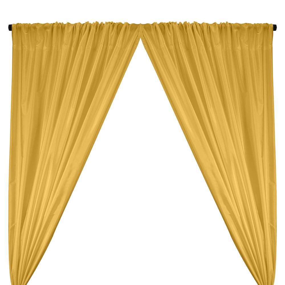 Polyester Taffeta Lining Rod Pocket Curtains - Yellow