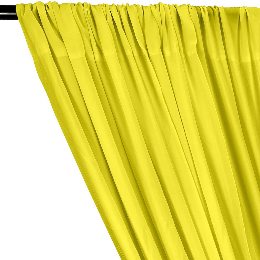 Rayon Challis Rod Pocket Curtains - Yellow