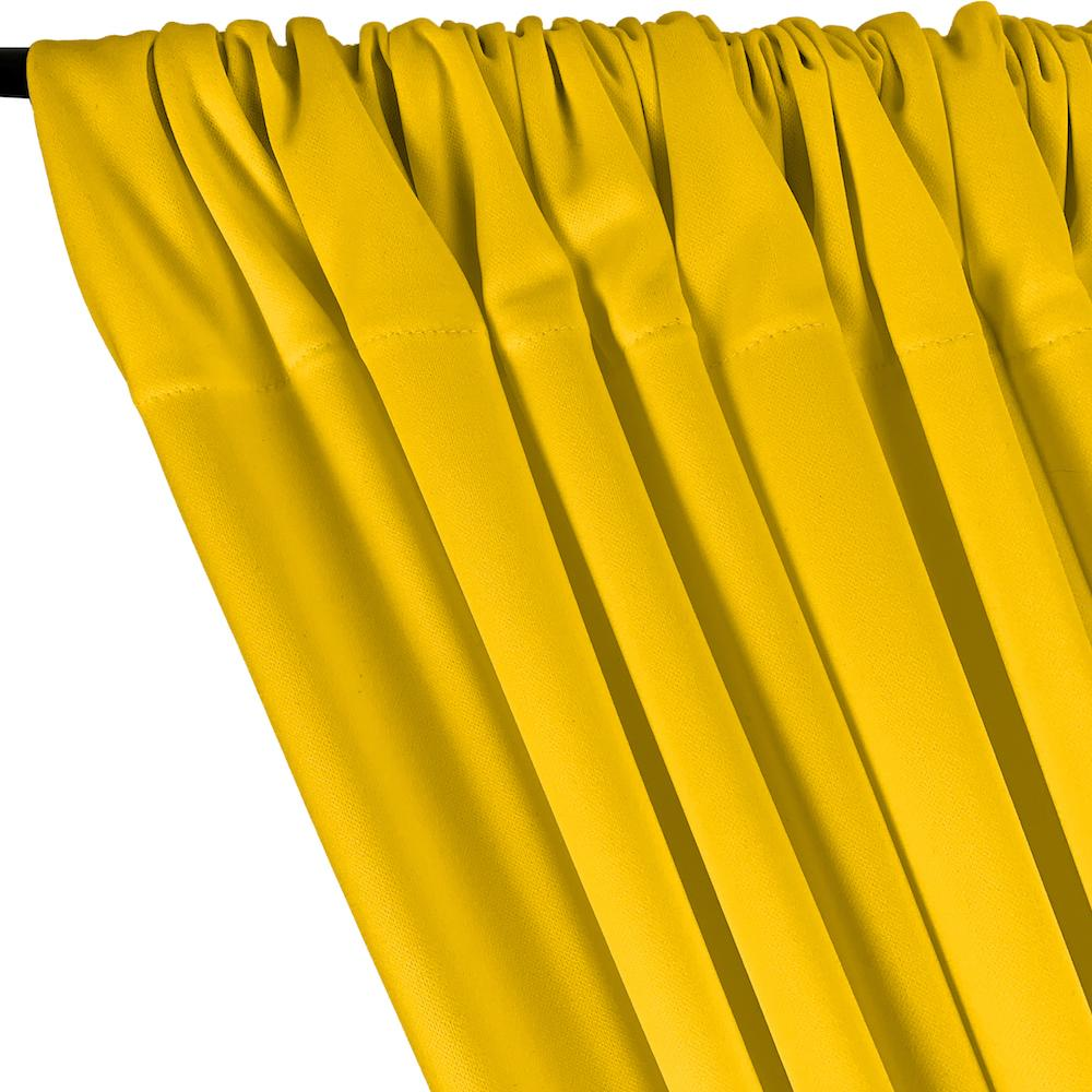 Scuba Double Knit Rod Pocket Curtains - Yellow