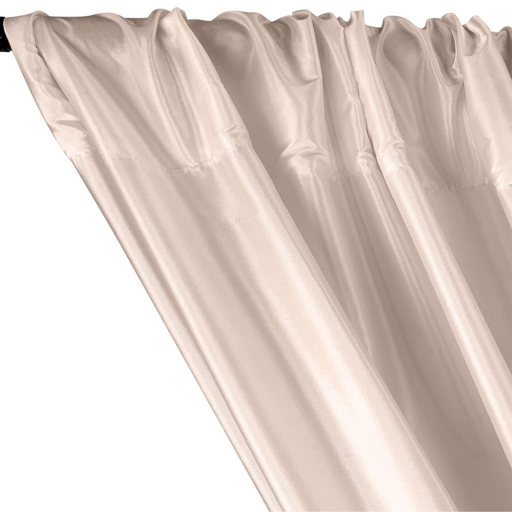 Polyester Taffeta Lining Rod Pocket Curtains - Blush