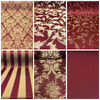 Burgundy & Gold Jacquard Fabric