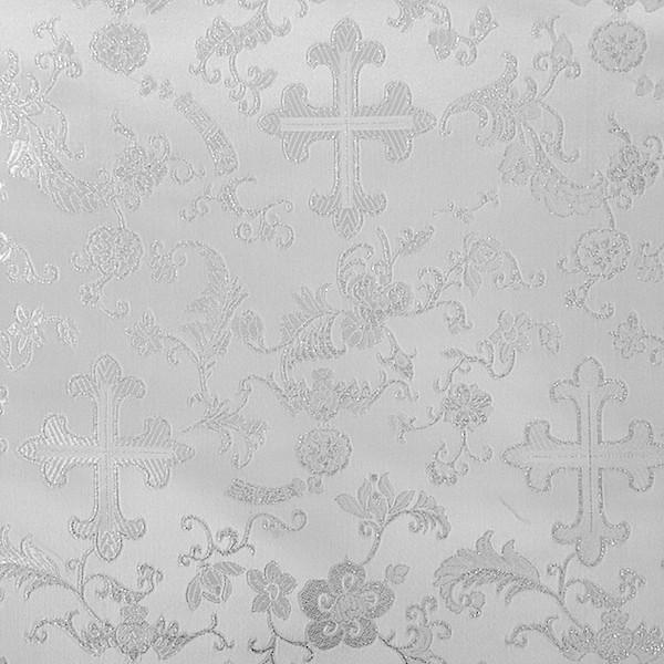 Church Cross Metallic Brocade Fabric