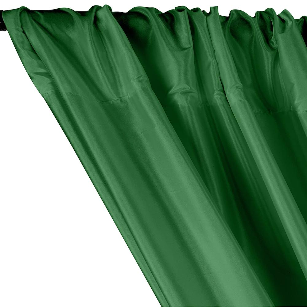 Polyester Taffeta Lining Rod Pocket Curtains - Emerald