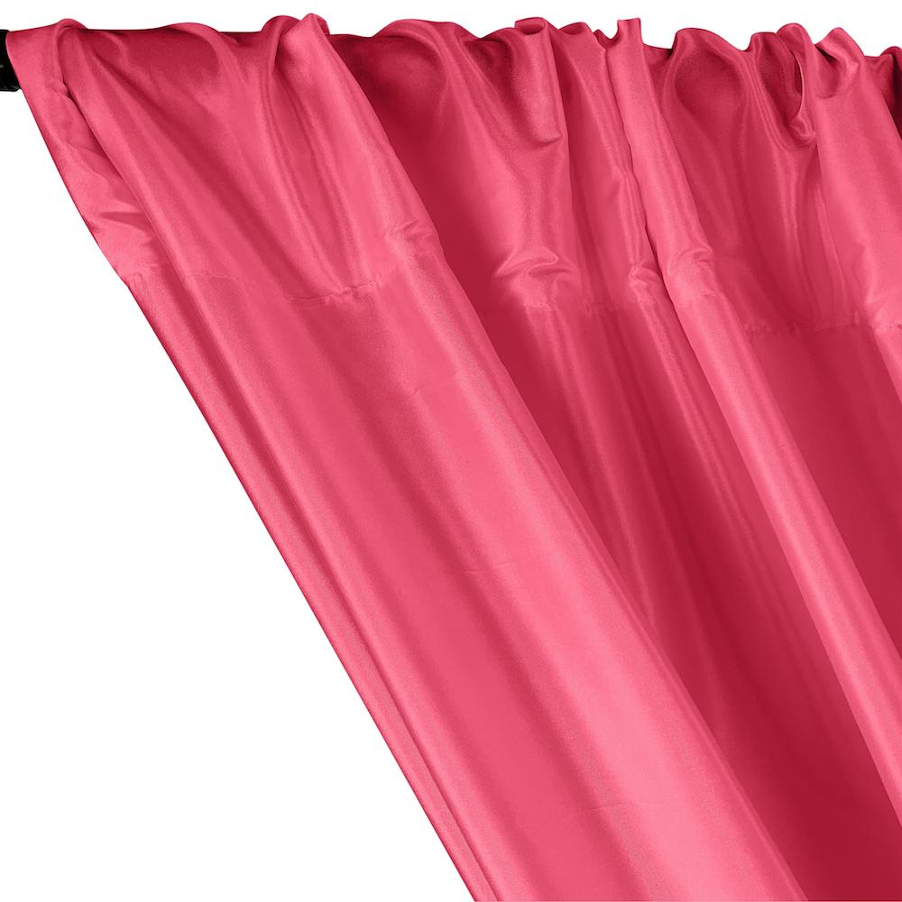 Polyester Taffeta Lining Rod Pocket Curtains - Fuchsia