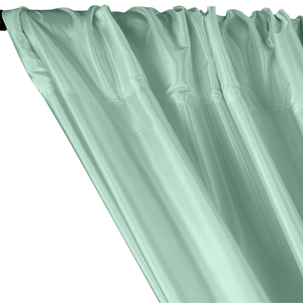 Polyester Taffeta Lining Rod Pocket Curtains - Mint