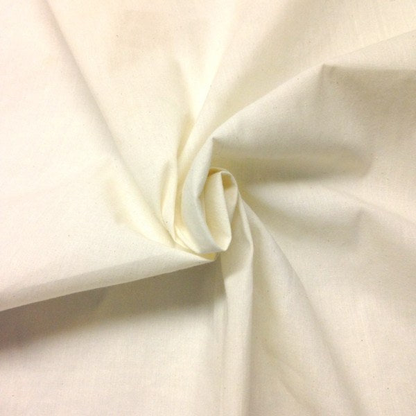 Sold By The Yard Folded Muslin Fabric Natural Unbleached 100/% Cotton Fabric 60