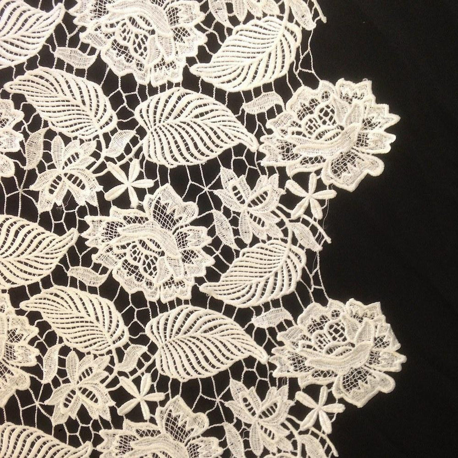 Leaf Guipure French Venice Lace Fabric