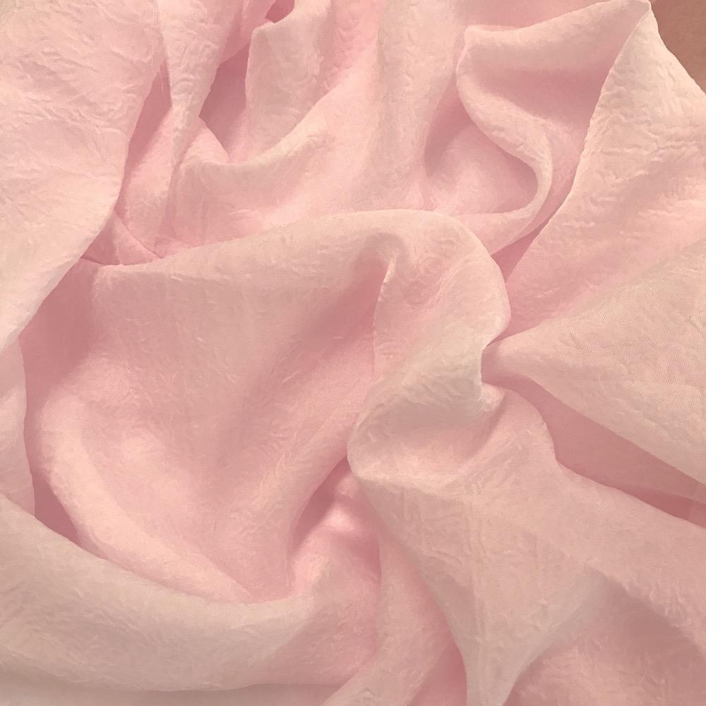 ROSE PINK CRYSTAL ORGANZA Voile Fabric Material
